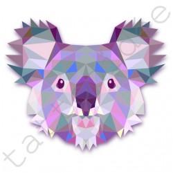 Miś Koala z trójkątów