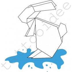 Królik w kałuży Origami