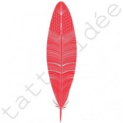 Piórko (typ B) czerwone