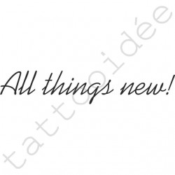 All things new!
