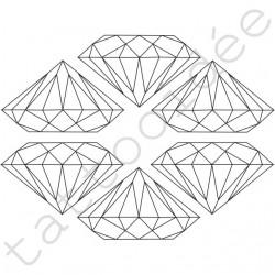 Diamenty przeźroczyste komplet